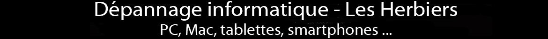 Dépannage informatique Les Herbiers. PC, Mac, tablettes, smartphones, Iphones. Vente et Réparation d'ordinateurs